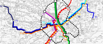Preliminary study for phase 3 of the Bordeaux tramway